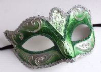 Green and Silver Fabiola Mask